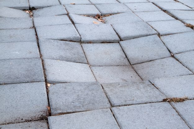 concrete sinking causes