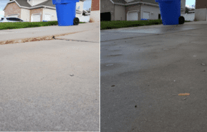 before and after picture of concrete repair