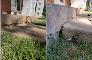 before and after stairway repair