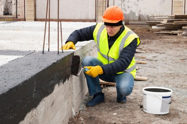concrete foundation stripping waterproofing